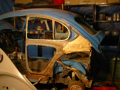 Project Punch 73 Vw Beetle 6 Tear Down Of The Left